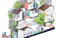 Ngôi nhà độc đáo với mỗi phòng là một nhà hoàn chỉnh ở Sài Gòn