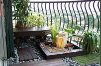 Sân vườn đẹp trên nóc nhà