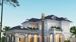 Thiết kế biệt thự 2 tầng sang trọng theo phong cách châu Âu