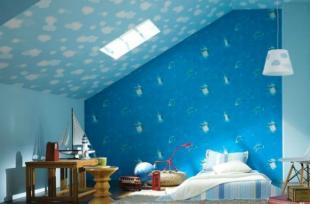Mẫu giấy dán tường giúp trẻ thêm yêu căn phòng của mình
