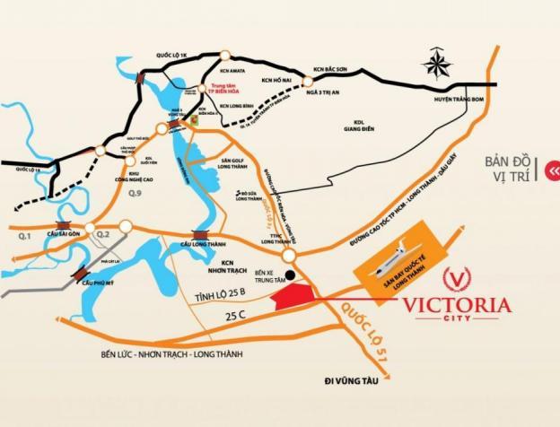 Đất nền cổng chính sân bay Long Thành, mặt tiền Quốc Lộ 51 và 25B, sổ đỏ thổ cư 100% 3225532