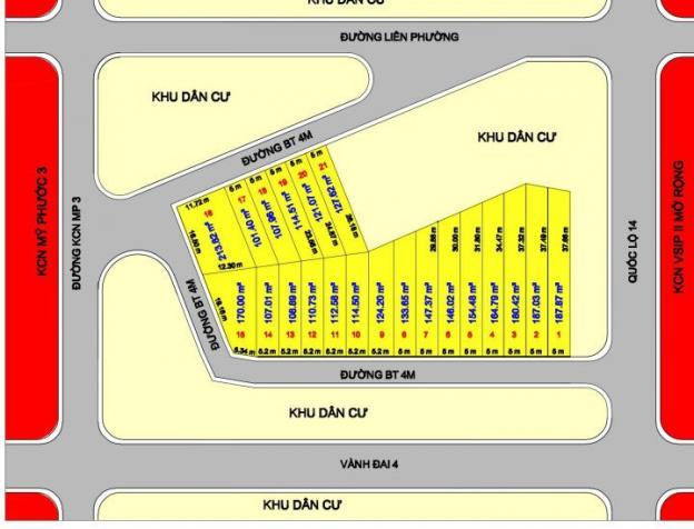 Bán gấp lô đất 100m2 phường Hòa Lợi, Bến Cát, TP M Bình Dương, chỉ tt 120tr. LH: 0908 100 608 7177367