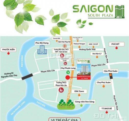 Căn hộ Saigon South Plaza mặt tiền đường Nguyễn Lương Bằng, Quận 7, giá 960tr 2PN 7225328