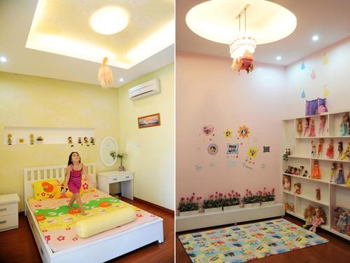 Hai căn phòng dễ thương với những phụ kiện trang trí đi kèm.