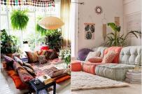 Ý tưởng trang trí nhà mùa hè với phong cách Bohemian tinh tế