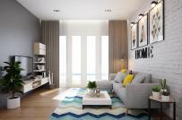 Bài trí nội thất tinh tế trong căn hộ 2 phòng ngủ