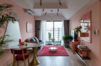 Sắc hồng ngọt ngào trong căn hộ 77m2