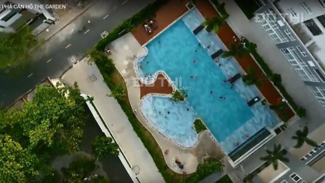 Căn hộ cao cấp 2pn, 2wc có nội thất view hồ bơi, giá 8.5 tr/th
