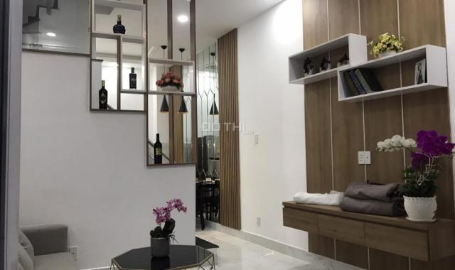Nhà mặt tiền Tô Ngọc Vân, 1 trệt, 2 lầu mới xây đẹp, tiện kinh doanh, quận 12