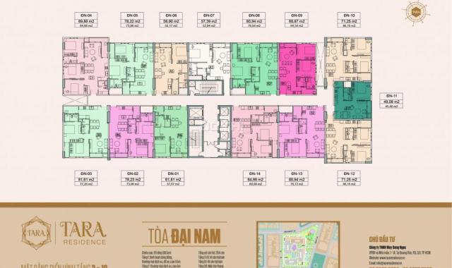 Căn hộ vừa túi tiền, không gian xanh, có gu riêng, Tara Residence, Quận 8, chỉ 26,5 tr/m2