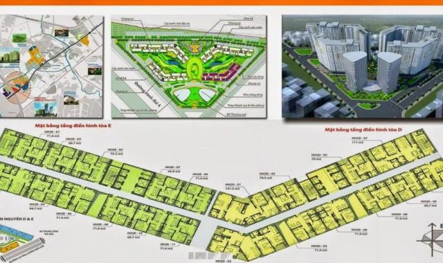 Cắt lỗ sâu căn hộ 70.6m2 view đẹp chỉ 1,11 tỷ tòa HH2E Dương Nội, đường Lê Văn Lương kéo dài