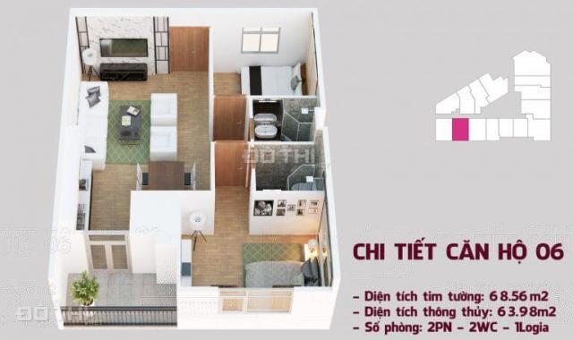Chính chủ cần bán (cắt lỗ) gấp căn hộ 06 tầng đẹp view đẹp nhất dự án Tháp Doanh Nhân