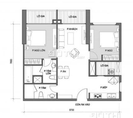 Bán gấp căn hộ 2PN tòa A1 Vinhomes Gardenia Mỹ Đình