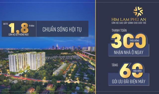 Chính chủ cần bán C-11-01 Him Lam Phú An, giá 2.25 tỷ, tầng 11, block C view hồ bơi