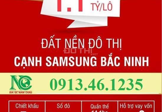 Đất nền giá rẻ tại Bắc Ninh, cạnh KCN Samsung, chỉ từ 10,5 triệu/m2, sổ đỏ trao tay. LH 0913461235