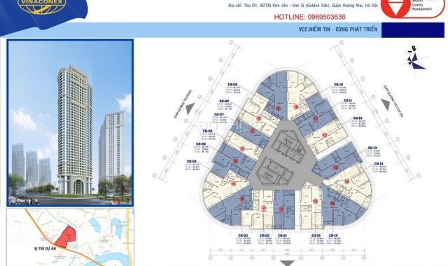 Chính chủ bán căn hộ 43m2 tòa B Vinaconex 2 khu ĐTM Kim Văn Kim Lũ, 0969503636