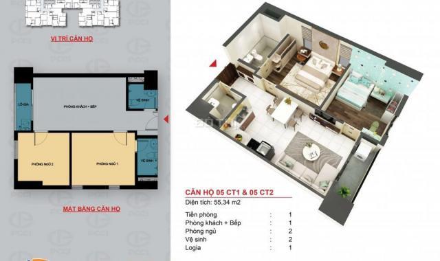 Ra mắt dự án chung cư PCC1 Triều Khúc, Thanh Xuân, Hà Nội, diện tích 62m2, giá 28.5 tr/m2