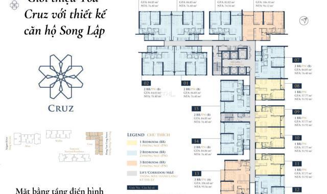 Chính chủ bán căn hộ 3PN Feliz En Vista giao hoàn thiện giá tốt, tầng đẹp, view full tòa L81