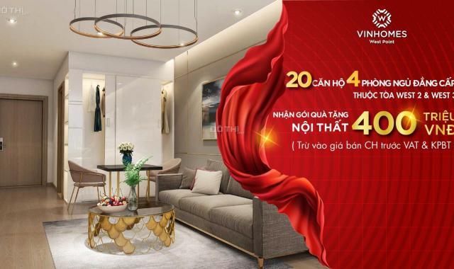 Vinhomes West Point chính sách quà tặng hấp dẫn tháng 6 cho căn hộ 2PN. LH 0943639791