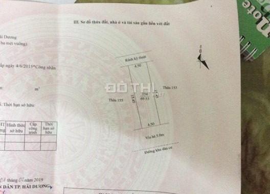 Bán lô đất khu quân đội lô N6.18 Cẩm Khê, Tứ Minh, TP. Hải Dương, giá tốt