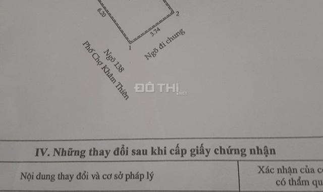 25m2, 2 tầng, 1.15 tỷ, ngõ xe máy tránh tại 138 ngõ Chợ Khâm Thiên