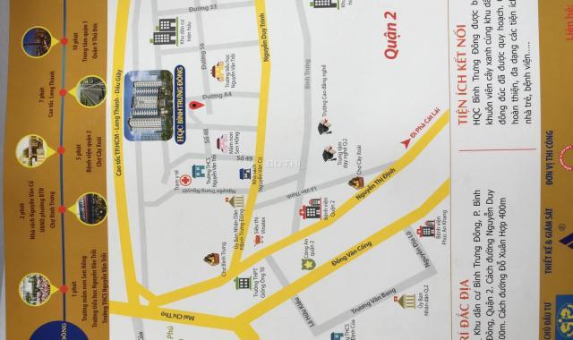 Bán suất nội bộ căn hộ Quận 2 mặt tiền Nguyễn Duy Trinh, 2PN - 2WC, giá 1.663 tỷ (đã có VAT)