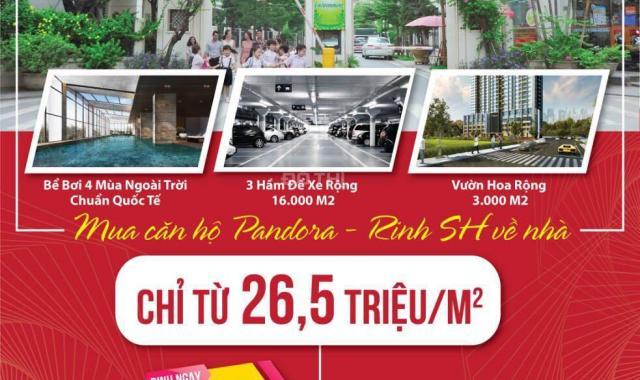 Nhận ngay SH, chiết khấu đến 5% khi mua căn hộ Pandora Thanh Xuân 83m2 chỉ 2.35 tỷ, sổ đỏ riêng