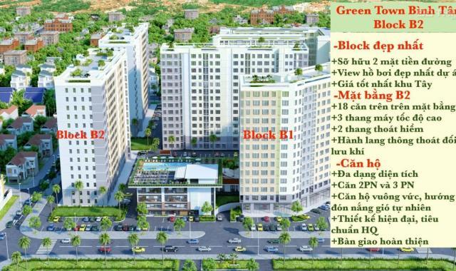 Bán căn hộ chung cư Green Town Bình Tân, Bình Tân, Hồ Chí Minh, diện tích 62m2, giá 1.4 tỷ