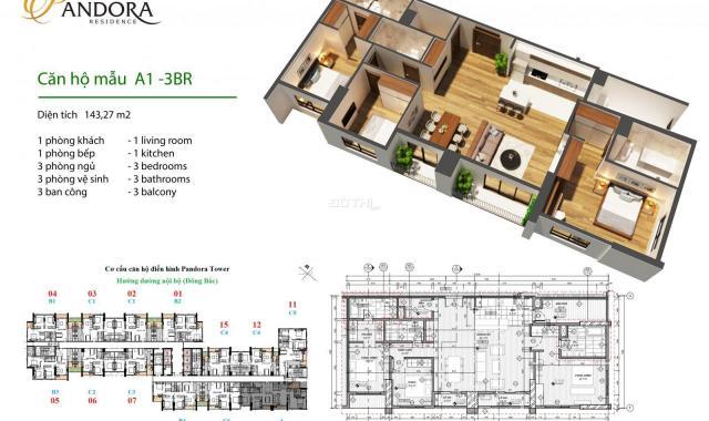 Sở hữu ngay căn hộ chung cư cao cấp Pandora Tower chỉ hơn 2 tỷ quỹ căn siêu đẹp, 0985999685