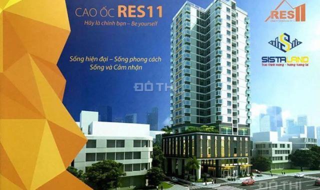 Cho thuê căn hộ Res 11, full nội thất cao cấp, 73m2, 2pn, 2wc, giá 17 tr/tháng