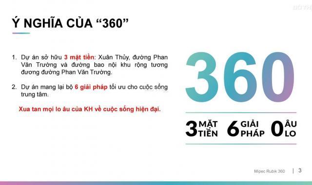 Mở bán đợt đầu dự án Mipec Rubik đường Xuân Thủy, giá chỉ từ 40 triệu/m2, full NT. LH 0983650098