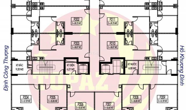 Bán căn hộ chung cư C14 Bùi Xương Trạch, căn 1107, diện tích: 63m2, giá: 20tr/m2. LH: 0385288725