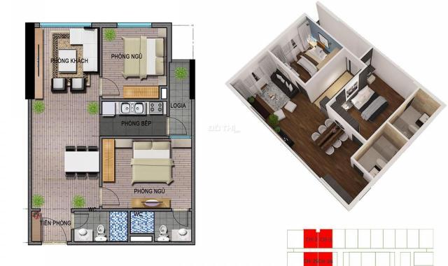 Bán căn hộ chung cư tại dự án Ecohome 3, Bắc Từ Liêm, Hà Nội giá 16 triệu/m2