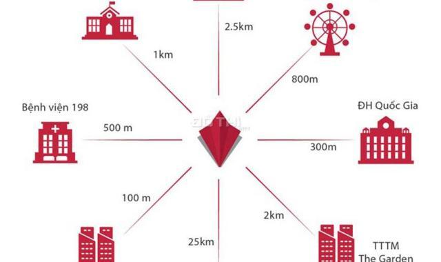 Mipec Rubik 360 - Căn hộ 2PN/70.3m2, chỉ từ 40 tr/m2, full nội thất, vay LS 0%