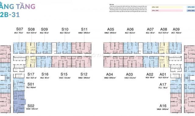 Bán căn S17 view nội khu hướng Nam, tuyệt đẹp, dự án Mipec Xuân Thuỷ, hotline 0358485678