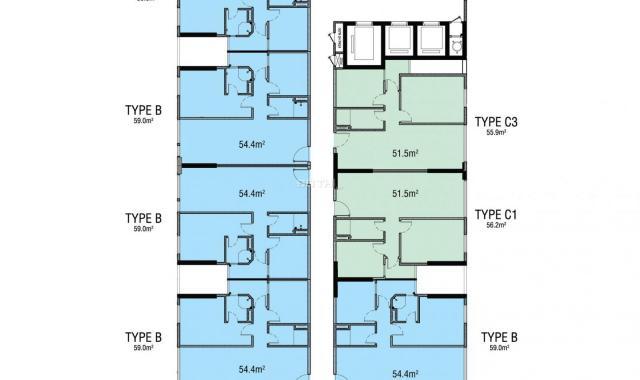 Bán căn hộ mới 100%, tiện ích nội ngoại đầy đủ, gần trung tâm thành phố, khu dân cư đông