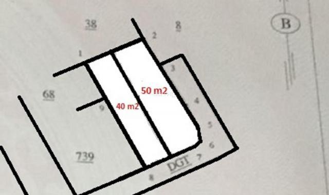 Bán rẻ 560 tr, 40m2 đất sổ đỏ, ô tô cửa, hướng ĐN tại xã Đồng Tháp, Đan Phượng, ven Hà Nội