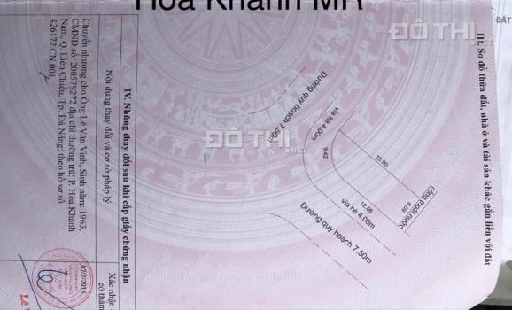 Lô góc 2 mặt tiền Hòa Khánh Mở Rộng, DT 101.1m2 giá 1 tỷ 9 LH 0988.677.254