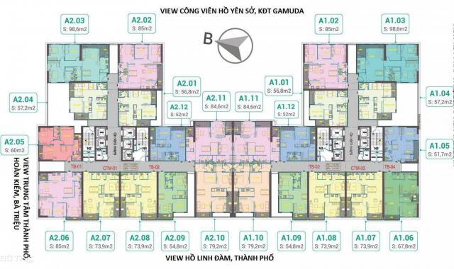 Có chung cư cao cấp nào căn 2PN + 2VS, giá chỉ từ 1.2 tỷ trung tâm quận Hoàng Mai không?