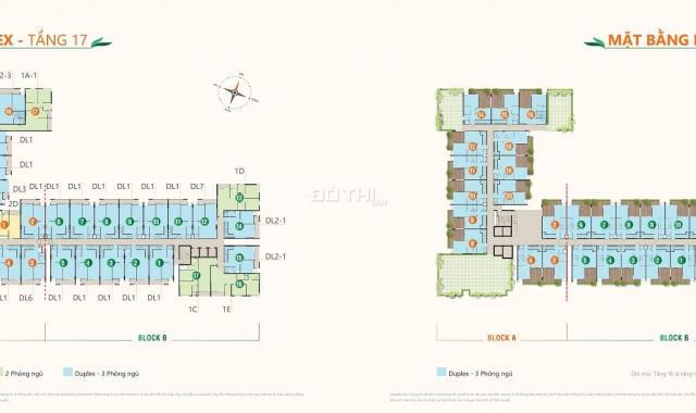 3 suất nội bộ duplex Ricca, tặng 12 - 17m2 sân vườn riêng, chỉ thanh toán 1.5%/ tháng