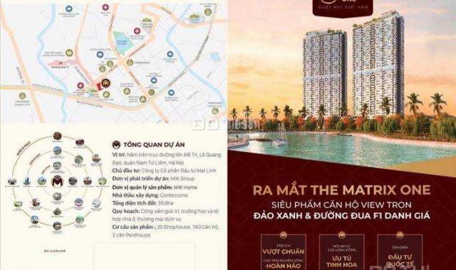 Chiết khấu đến 9% căn hộ The Matrix One Mễ Trì siêu sang view hồ công viên 14ha và đường đua F1