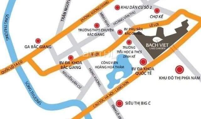 Bán căn hộ chung cư tại dự án Bách Việt Lake Garden, Bắc Giang, Bắc Giang, DT 57m2, giá TT 270tr