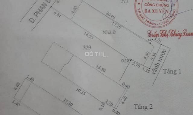 Cần bán nhà mặt tiền đô thị tại Khóm 2, Phường 4, TP Sóc Trăng, tiện kinh doanh, giá tốt