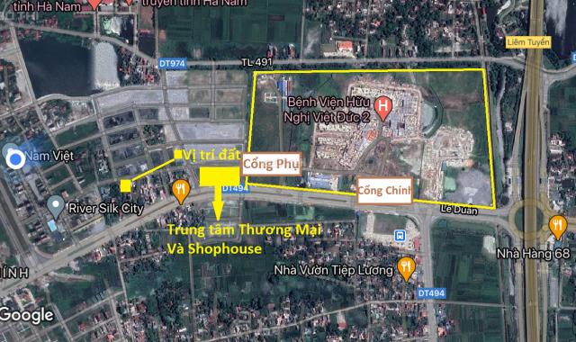 Bán đất mặt đường đi thẳng cổng phụ bệnh viện Việt Đức 2, Phủ Lý, Hà Nam