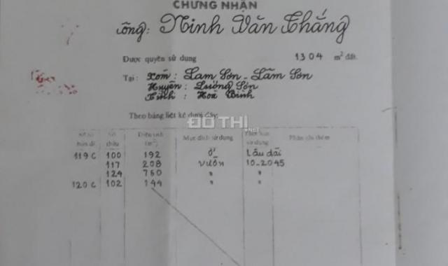 Bán gấp 760m2 đất mặt đường QL 6 tại Lâm Sơn, Lương Sơn Hòa Bình