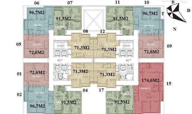 Bán gấp, CC Dream Land 23 Duy Tân, 1803: 91,7m2 & 1812: 71,6m2 & 1616: 91.7m2, giá 2.4tỷ. 097108538