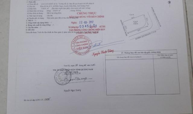 Bán lô góc 2 mặt tiền khu đô thị Số 3, Phường Điện Ngọc - Quảng Nam