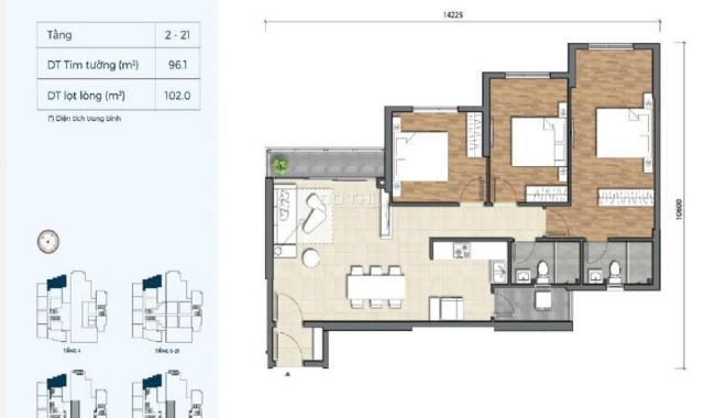 1.8 tỷ có mua được căn hộ Quận 2? Thanh toán 30% nhận nhà hoàn thiện, căn 3PN, 101m2