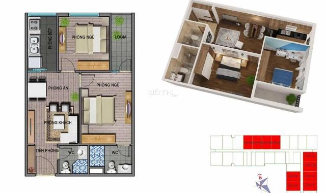 Cho thuê 3 căn hộ Ecohome 3, DT 62 - 80m2, giá 5 - 6.5tr/th, full đồ. LH 0944596256