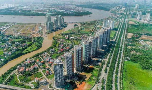 Căn officetel The Sun Avenue tầng trung diện tích 51m2, view sông và TP cực mát, hoàn thiện cơ bản